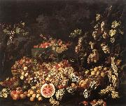 Still-Life with Fruit and Flowers RECCO, Giuseppe