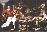 Still Life with Dead Game, Fruits, and Vegetables in a Market w t SNYDERS, Frans
