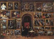 Archduke Leopold Wilhelm of Austria in his Gallery fh TENIERS, David the Younger