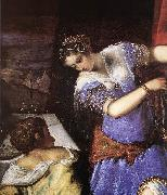 Judith and Holofernes (detail) s TINTORETTO, Jacopo