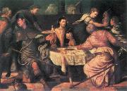 The Supper at Emmaus ar TINTORETTO, Jacopo