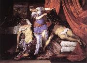 Judith and Holofernes ar TINTORETTO, Jacopo