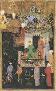 Timur enthroned Bihzad