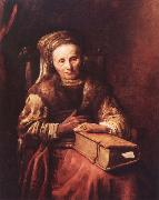 Old woman with a book Carel Van der Pluym
