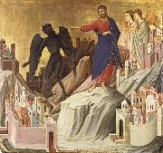 The Temptation of Christ on the Mountain Duccio