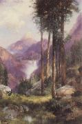 Yosemite Valley,Vernal Falls Thomas Moran