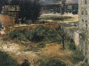 Rear Counryard and House Adolph von Menzel