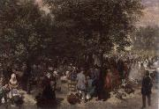 Afternoon in the Tuileries Garden Adolph von Menzel