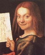 Red-Headed Youth Holding a Drawing CAROTO, Giovanni Francesco