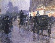 Horse Drawn Coach at Evening Childe Hassam