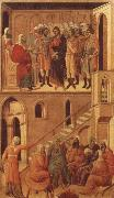 Peter-s First Denial of Christ Before the High Priest Annas Duccio
