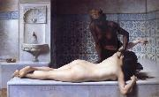 The Massage Scene from the Turkish Baths Edouard Debat Ponsan