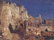 The Ramparts,Algiers Felix Ziem