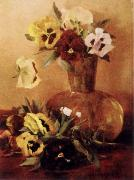 Pansies in a Glass Vase Hirst, Claude Raguet