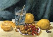 Still Life with Lemons,Red Currants,and Gooseberries Hirst, Claude Raguet