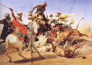 Lion Hunt Horace Vernet