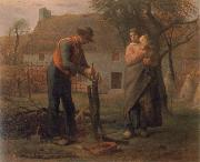 Peasant Grafting a Tree Jean Francois Millet