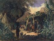 Indian Hut in the Village of Jalcomulco Johann Moritz Rugendas