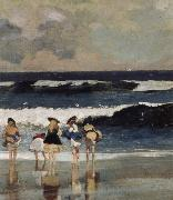 Detail from on the Beach Winslow Homer