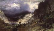 Ein Sturm in den RockY Mountains,Mount Rosalie Bierstadt