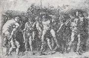 A Bacchanal with Silenus Andrea Mantegna