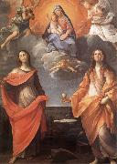 The Virgin appears before San Lucas and Holy Catalina Annibale Carracci