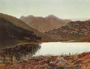 Blea Tarn at First Light,Langdale Pikes in the Distance Atkinson Grimshaw