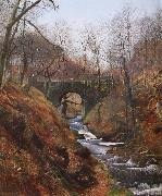Ghyll Beck Barden Yorkshire Early Spring Atkinson Grimshaw