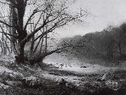 November Morning on the River Wharfe Atkinson Grimshaw