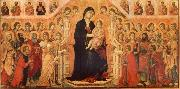 Maria and Child throning in majesty, hoofddpaneel of the Maesta, altar piece Duccio