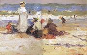 At the beach Edward Henry Potthast Prints
