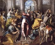 Christ Driving the Traders from the Temple El Greco