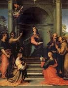 The Anunciacion, Holy Margarita, Maria Mary magdalene, Pablo, Juan the Baptist, Jeronimo and Francisco Fra Bartolomeo
