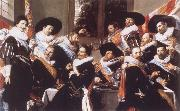 Banquet of the Officers of the Civic Guard of St Adrian Frans Hals