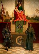 Madonna and Child Enthroned between St Francis and St Liberalis Giorgione