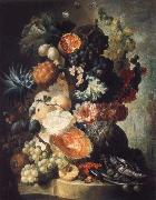 Fruit,Flwers and a Fish Jan van Os