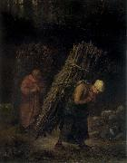 Peasant Women Carrying Firewood Jean Francois Millet