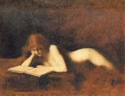 Woman Reading Jean-Jacques Henner