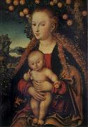 THe Virgin and Child under the Apple-tree Lucas Cranach the Elder