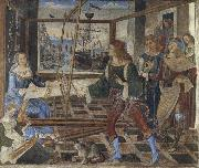 Penelope at the Loom and Her Suitors Pinturicchio
