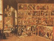 Archduke Leopold william in his gallery at Brussels TENIERS, David the Younger
