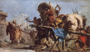 The Building of the Trojan Horse The Procession of the Trojan Horse into Troy TIEPOLO, Giovanni Domenico