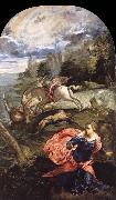 Saint George,The Princess and the Dragon TINTORETTO, Jacopo