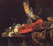 Still Life with the Drinking-Horn of the Saint Sebastian Archers-Guild,Lobster and Glasses Willem Kalf