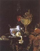 Still life with Chinese Porcelain Jar Willem Kalf