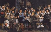 Celebration zun peace of Munster in the general quarters of the St. Jorisdoele Bartholomeus van der Helst