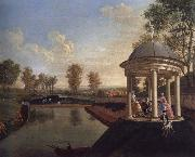 The Brockman Family and Friends at Beachborough Manor The Temple Pond looking from the Rotunda Edward Haytley