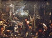The homecoming de lost of son into the father house Francesco Bassano the younger