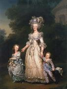 Queen Mary Antoinette with sina tva baby in Triangle park Adolf-Ulrik Wertmuller