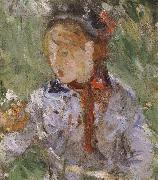 Detail of  The woman and children are in the park Berthe Morisot